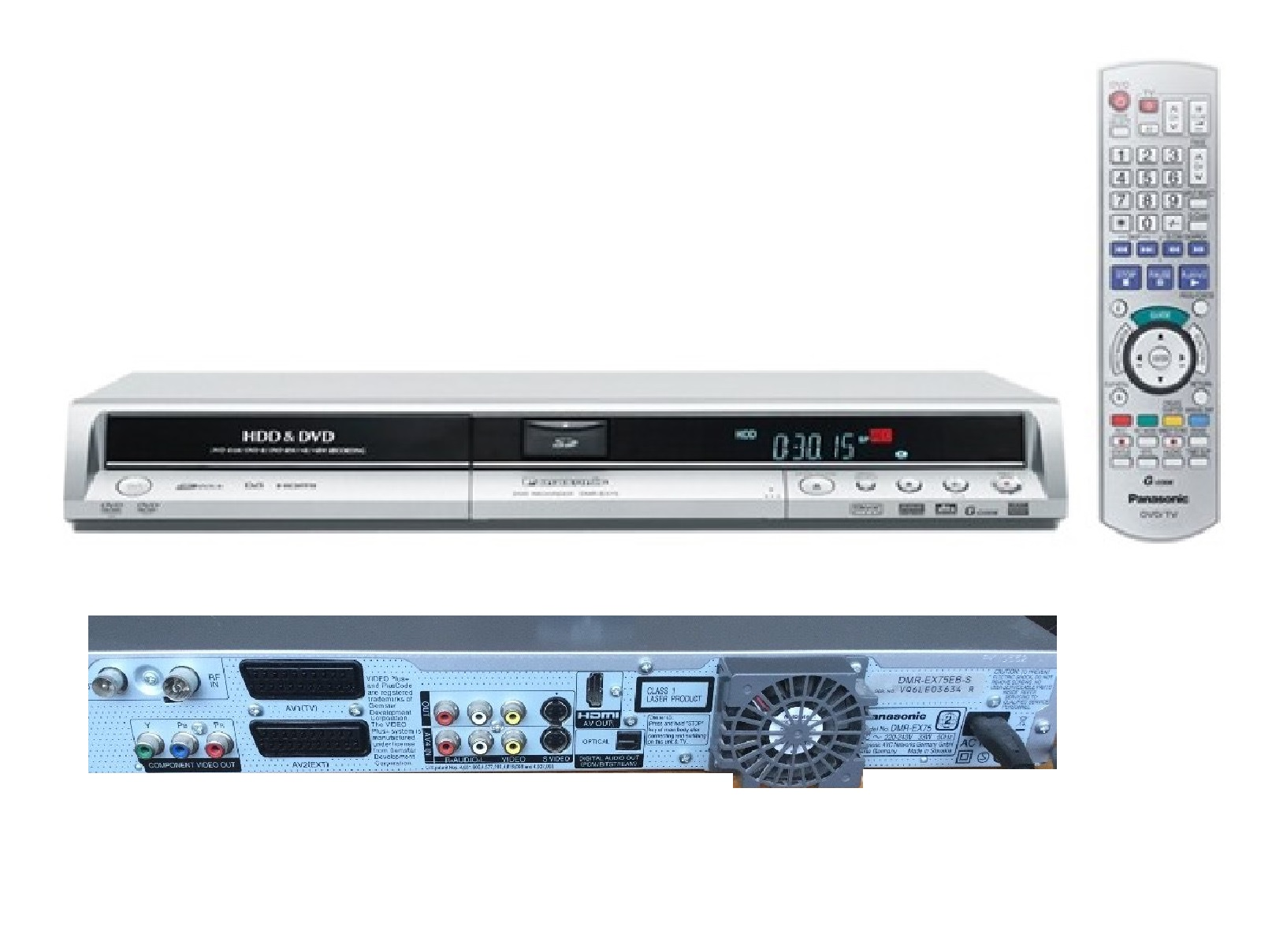 panasonic region free dmr ex85 dvd hdd 250gb recorder hdmi freeview rh ebay ie Panasonic DVD VHS Recorder Manual Panasonic Remotes for DVD and VHS Recorder