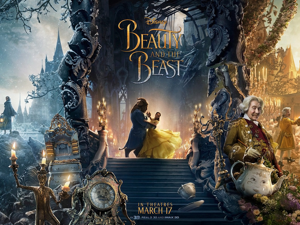 Η Πεντάμορφη Και Το Τέρας (Beauty And The Beast) Quad Poster