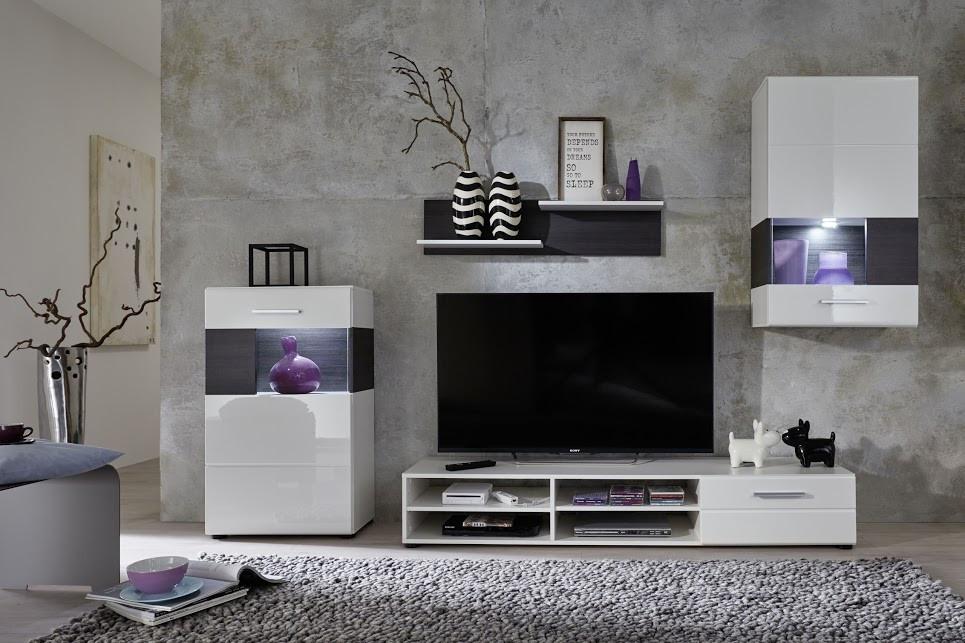 Composizione soggiorno moderno porta tv rover, mobile bianco e ...