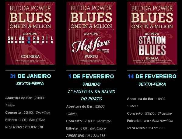 BUDDA POWER BLUES  Próximos Concertos