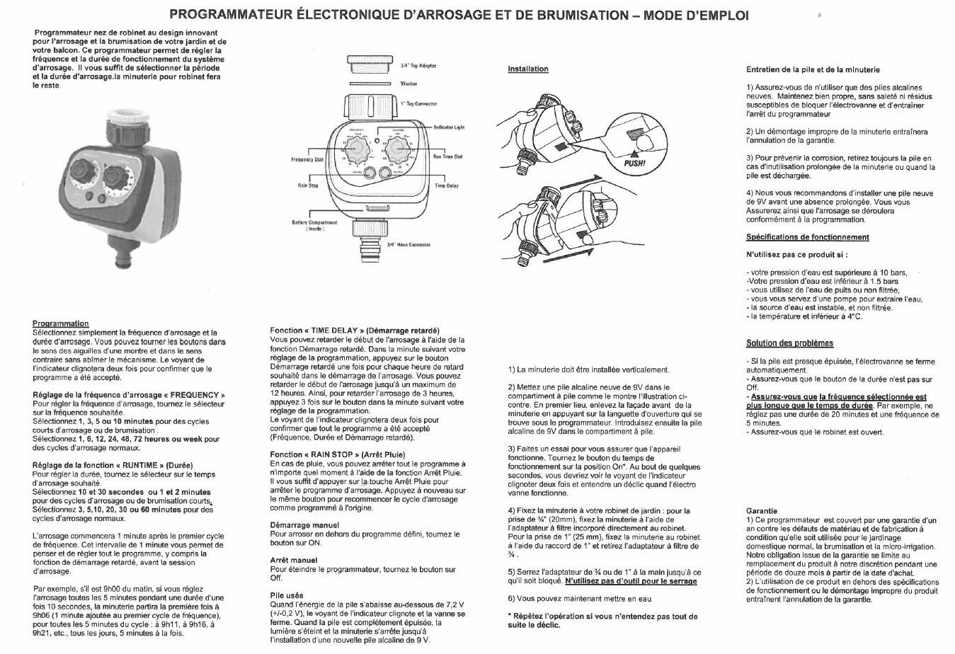 3 Kits Brumisation 1 Programmateur Nez Robinet