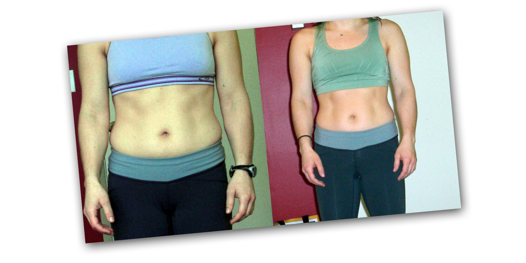 sweet sweat waist trimmer before and after photo