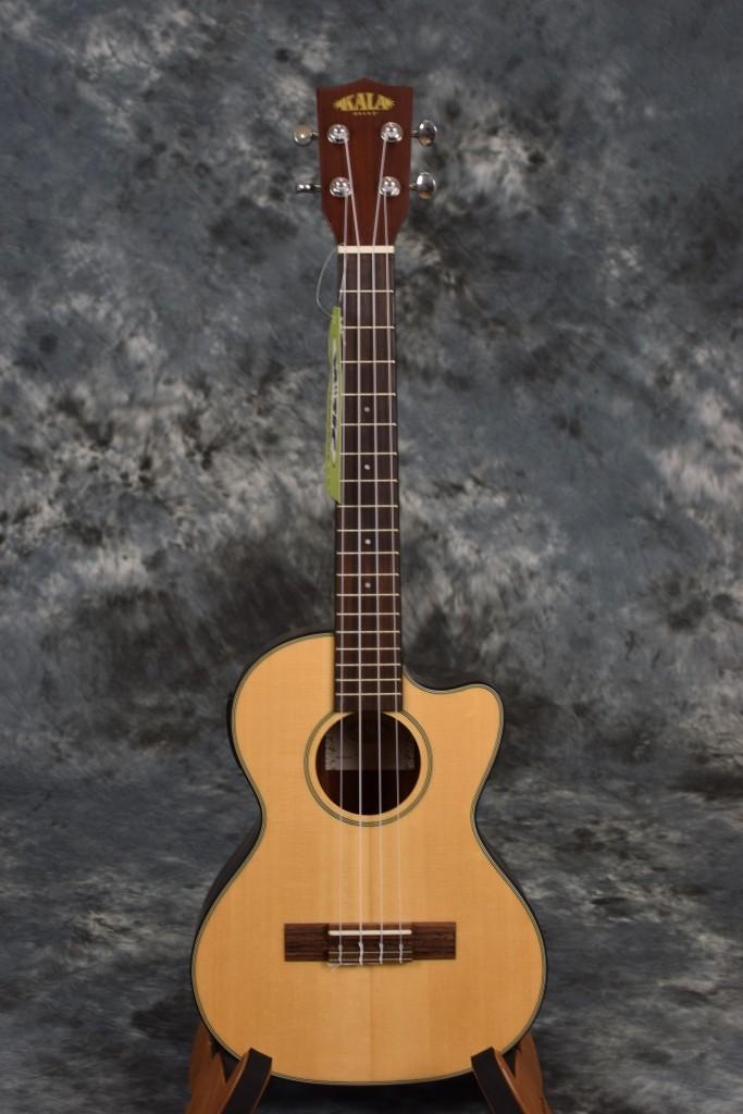 kala ka ste c electric acoustic tenor ukulele with solid spruce top cutaway ebay. Black Bedroom Furniture Sets. Home Design Ideas