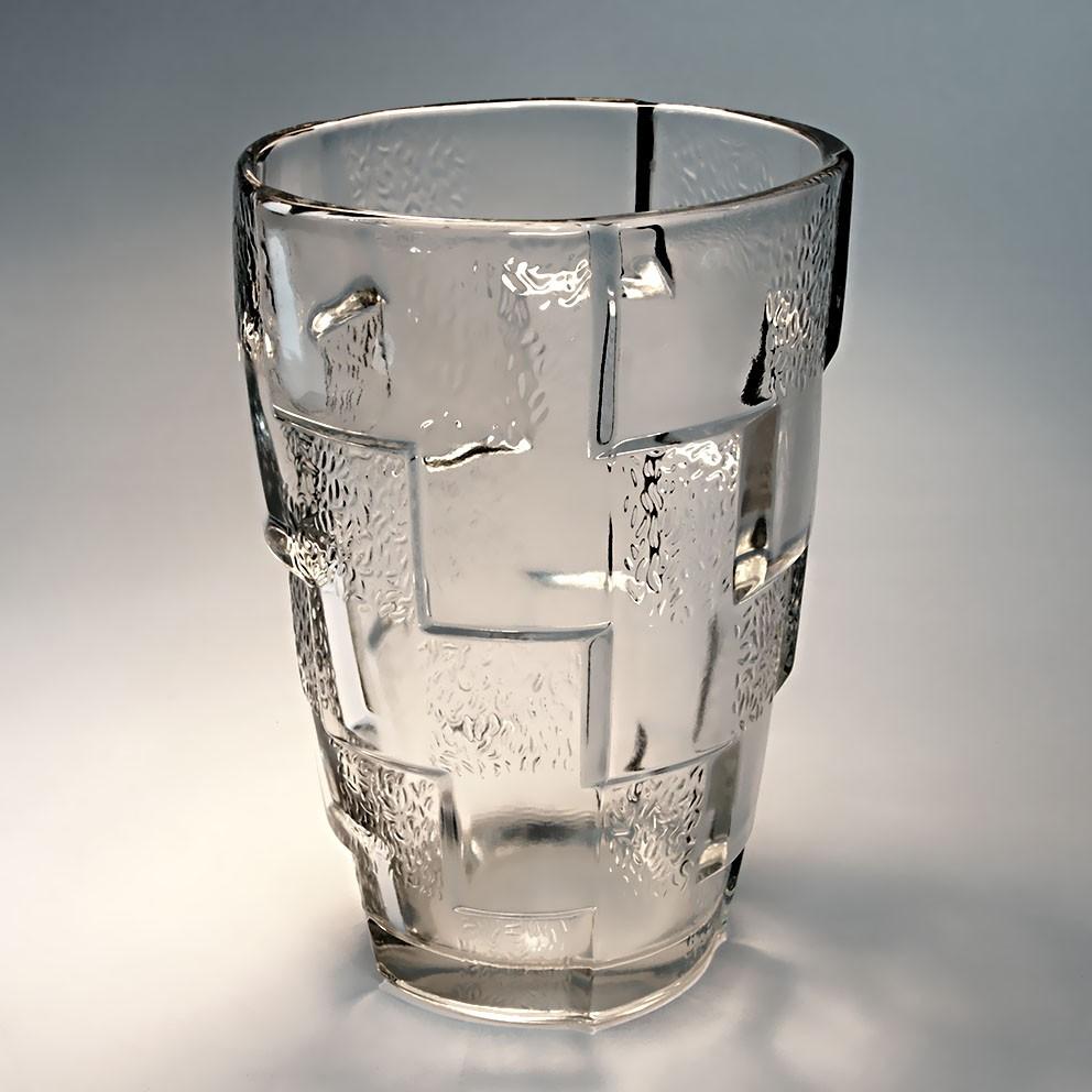 ancien vase verre moderniste vintage glass vase design art deco ann es 30 40 ebay. Black Bedroom Furniture Sets. Home Design Ideas