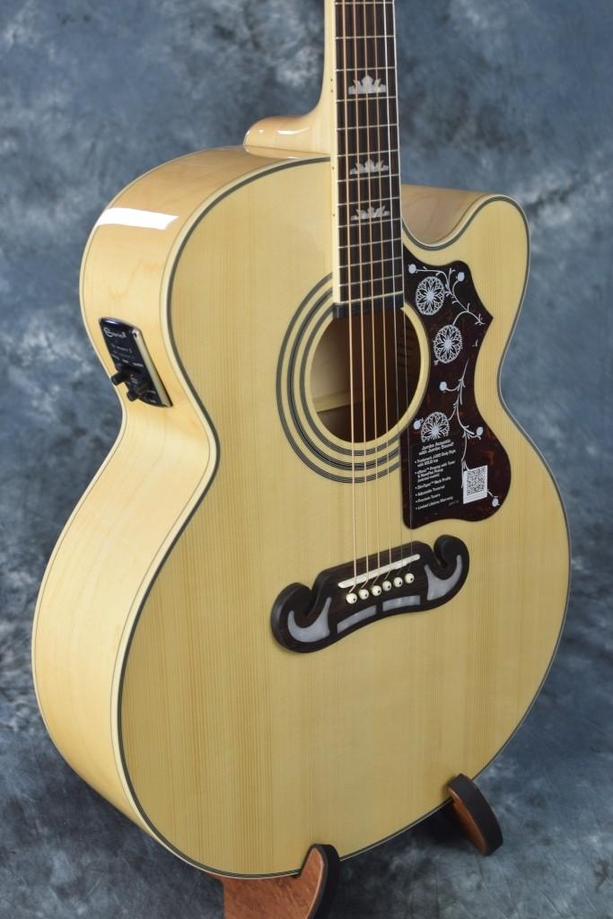 epiphone ej200sce j200 style acoustic electric jumbo guitar case natural 673 ebay. Black Bedroom Furniture Sets. Home Design Ideas