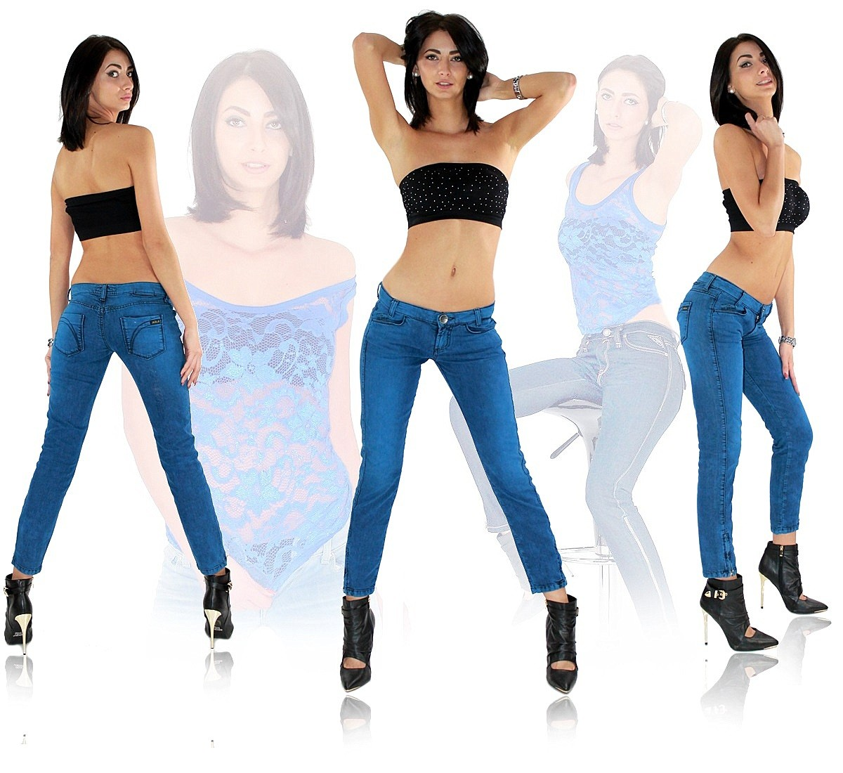 original killah by miss sixty sexy damen jeans hose kurzl nge karottenjeans 0100. Black Bedroom Furniture Sets. Home Design Ideas