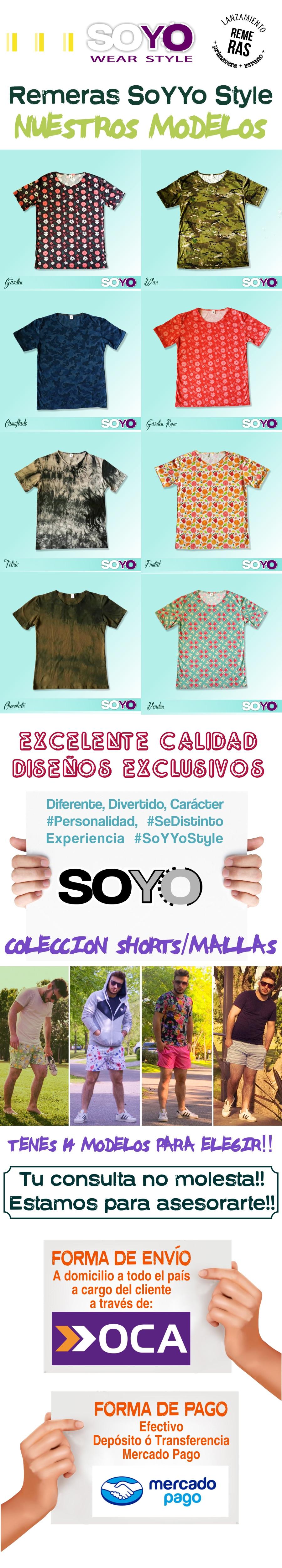 Remeras Estampadas Hombre Soyyostyle Diseño Exclusivo Promo  f47ce6134ffb9