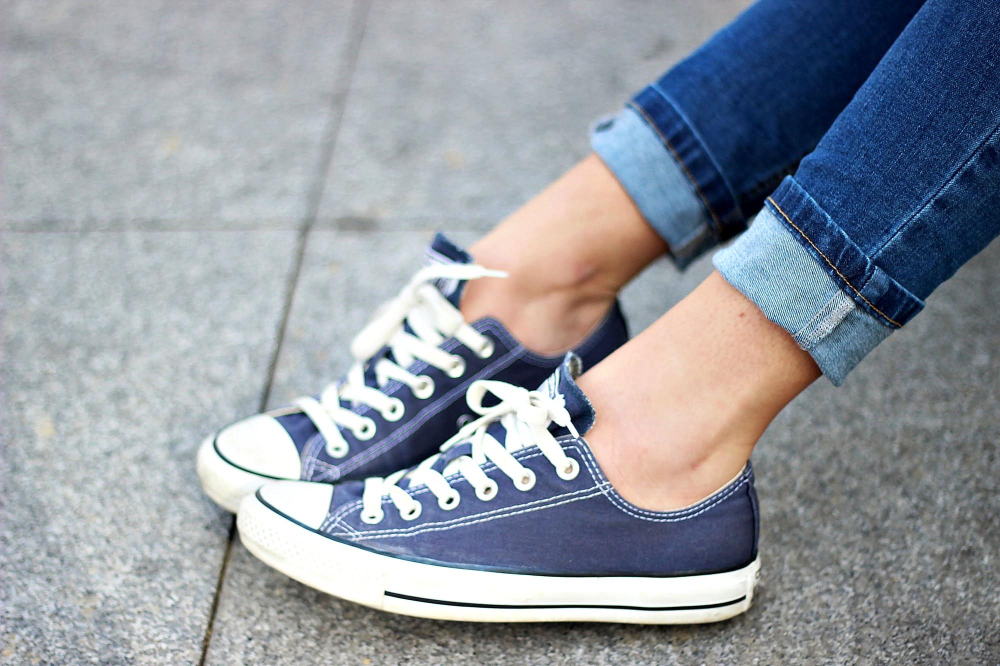 White Jeans Leopard Shoes