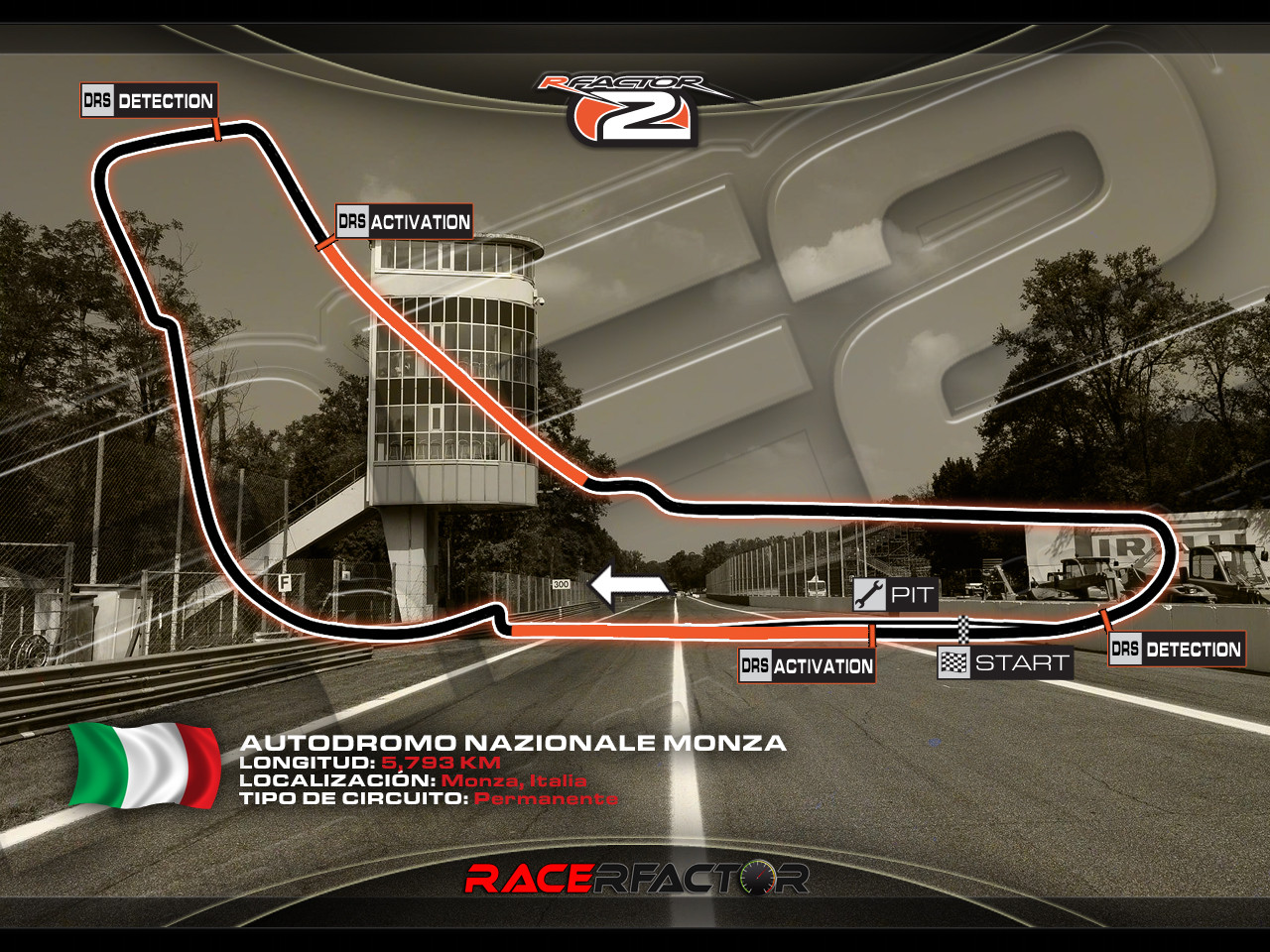 RaceRfactor Monza 2014 v1 96 by McNolo