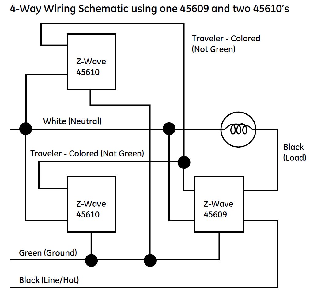 3 way switch wiring diagram for ge z wave replacing three and four way light switching with the z ... 3 way switch wiring diagram for ceiling lights #10