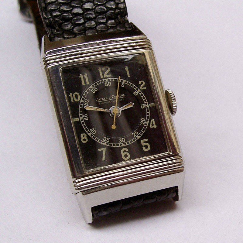 rare montre ancienne jaeger lecoultre reverso 1940 watch. Black Bedroom Furniture Sets. Home Design Ideas