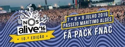 FÃ PACK FNAC NOS ALIVE'16