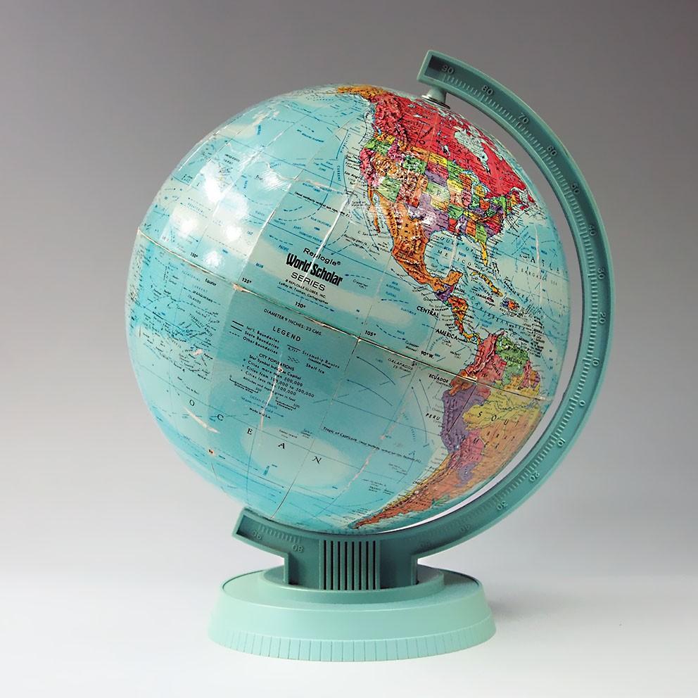 globe terrestre mappemonde replogle vintage map of the world design 50 39 60 39. Black Bedroom Furniture Sets. Home Design Ideas