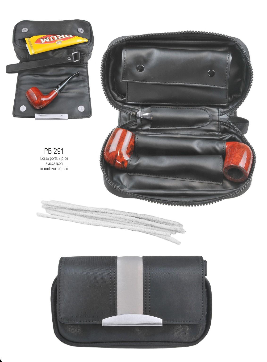 Borsa borsello porta pipa porta tabacco pipe bag per 2 - Porta tabacco pipa ...