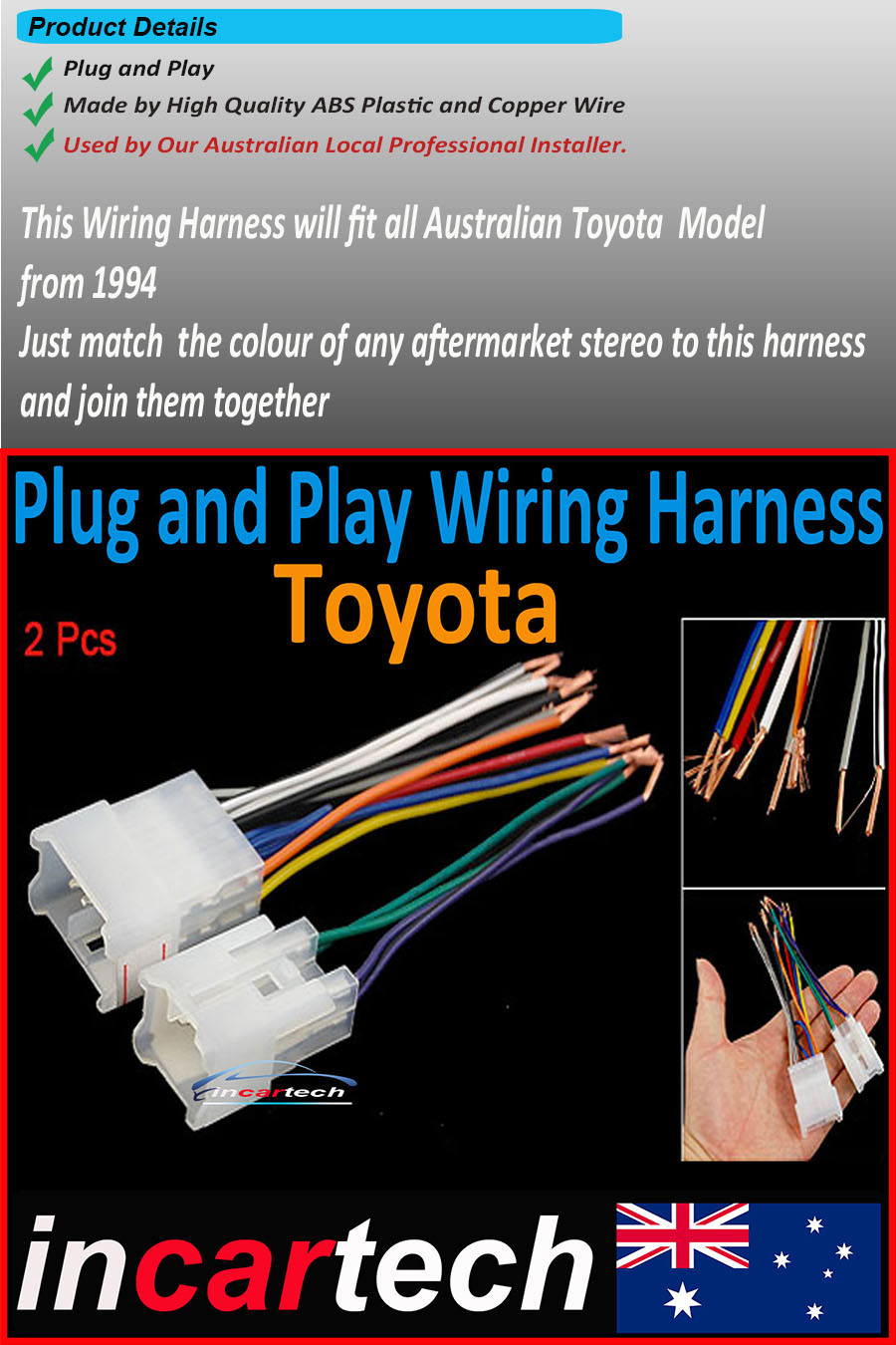 Toyota Wiring Harness Oem Factory Radio Plug Lead Loom Wire Camry Sony On 22 Nov 16 At 002016 Aedst Seller Added The Following Information Dc Tracker