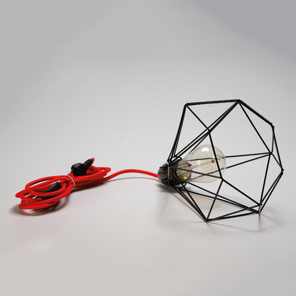 Lampe Filament Style Diamond Black Red Lamp Design Industriel Loft Usine Ebay