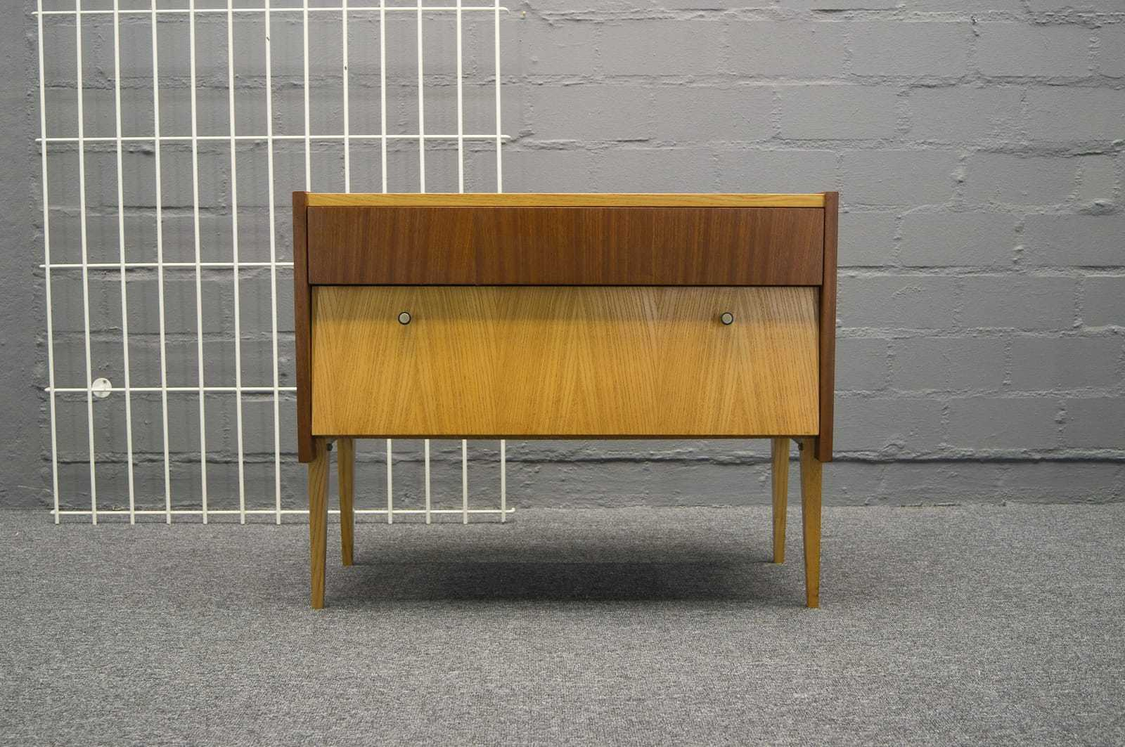 mid century 2 farbige kommode 50er 60er jahre vintage ebay. Black Bedroom Furniture Sets. Home Design Ideas
