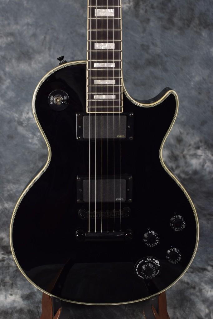 epiphone matt heafy signature les paul custom electric guitar in ebony emg pup. Black Bedroom Furniture Sets. Home Design Ideas