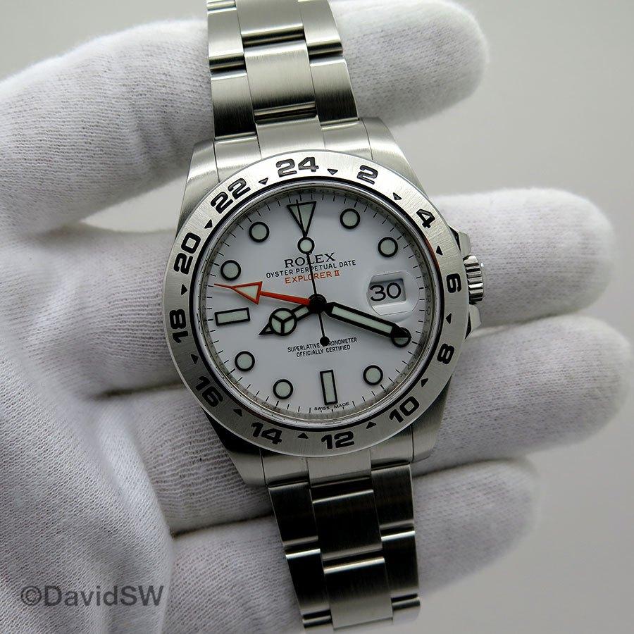 ce063827972 Rolex 216570 EXPLORER II 42MM-STAINLESS STEEL-WHITE DIAL-RANDOM SERIAL  (Rolex)