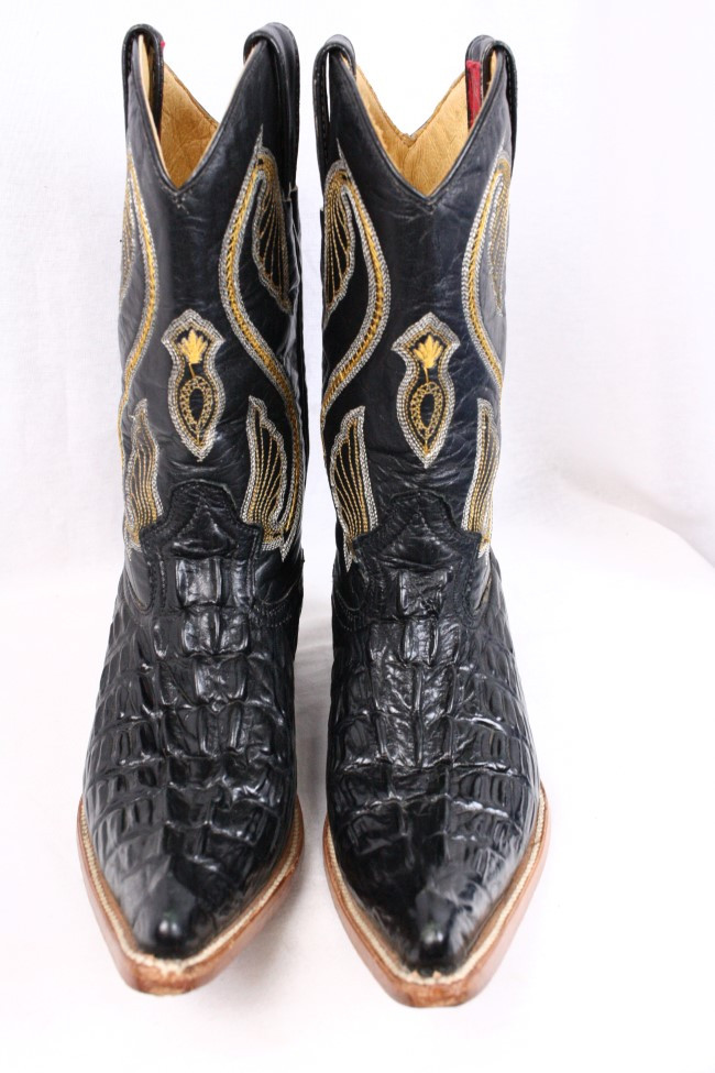 6af108b9416 Details about DONALDO Chihuahua Coco Black Leather Western Roper Cowgirl  Cowboy Boots Women 6