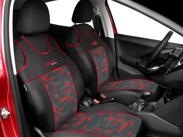 Front seat covers fit PEUGEOT 306 VEST SHAPE 2x blue