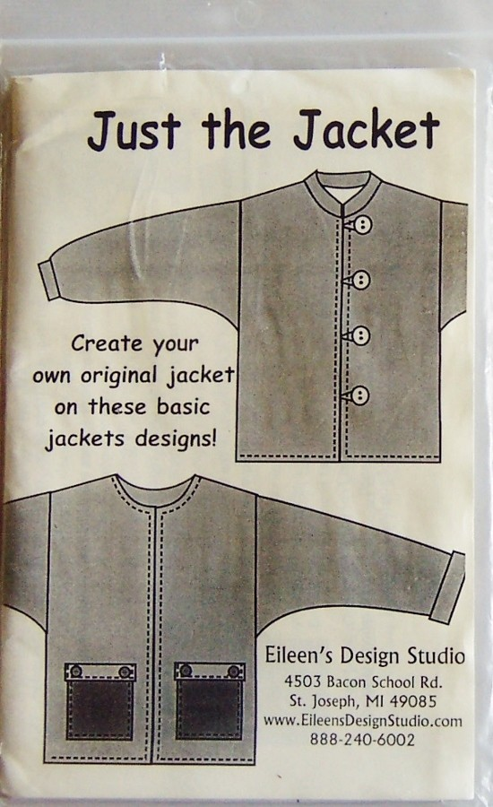 Eileens Design Studio Just The Jacket Sewing Pattern Js2 New
