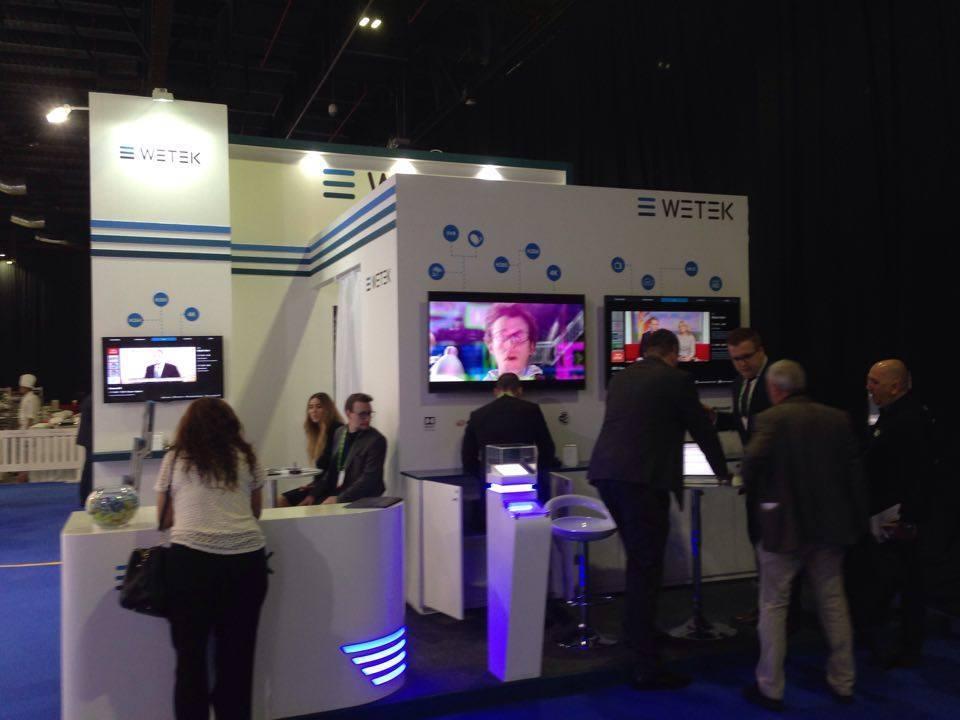 New WeTek 4K Boxes introduction in CabSat Fair Dubai