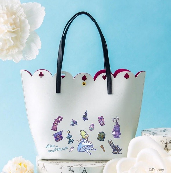 80f7e65891c Details about Samantha Thavasa COLORS by Jennifer Sky Disney Alice in  Wonderland Tote Bag New