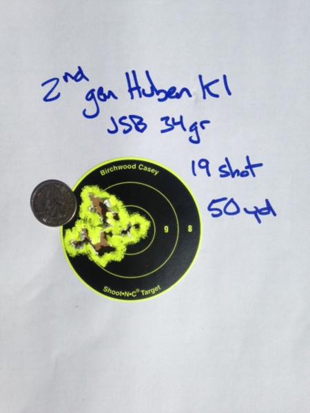 More 2nd Gen Huben K1 target testing - Yellow Airgun Forum