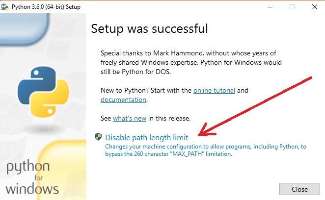 python 3.6.4 64 bits