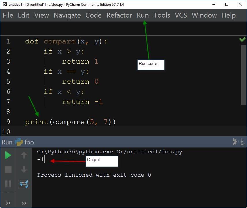 Return Statement in Python IDLE editor