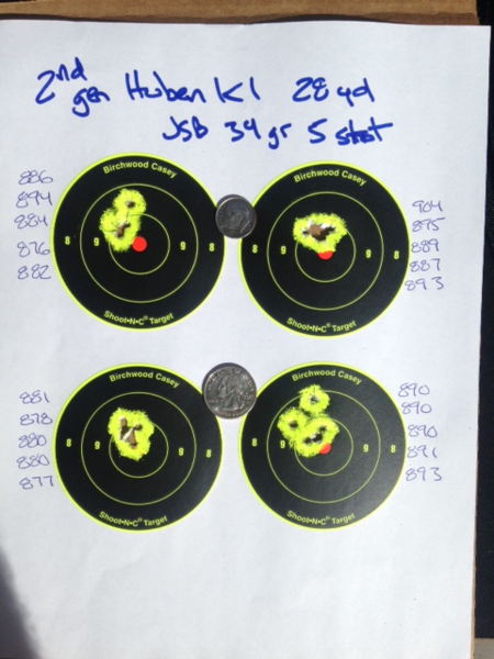 More 2nd Gen Huben K1 target testing - Yellow Airgun Forum Archive