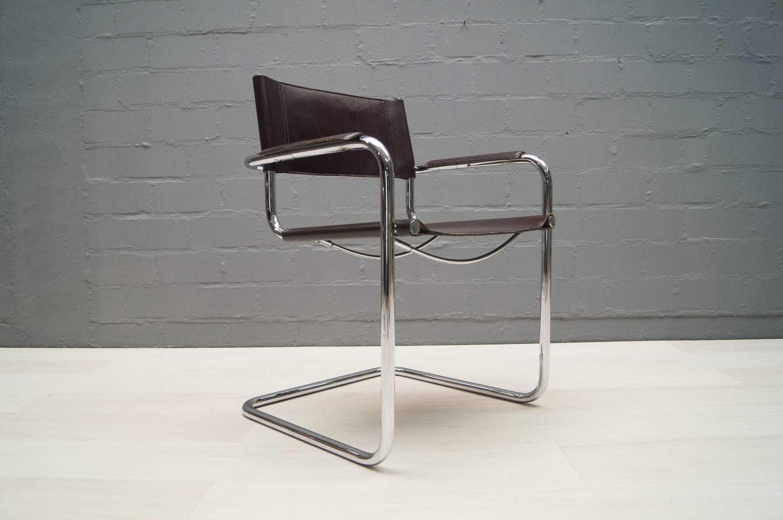 2x paar mart stam freischwinger stuhl chrom leder art deco bauhaus entwurf ebay. Black Bedroom Furniture Sets. Home Design Ideas